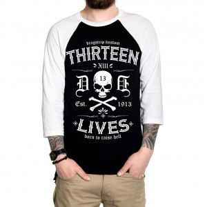 Dragstrip Clothing Americana Baseball top Reversed Thirteen Lives