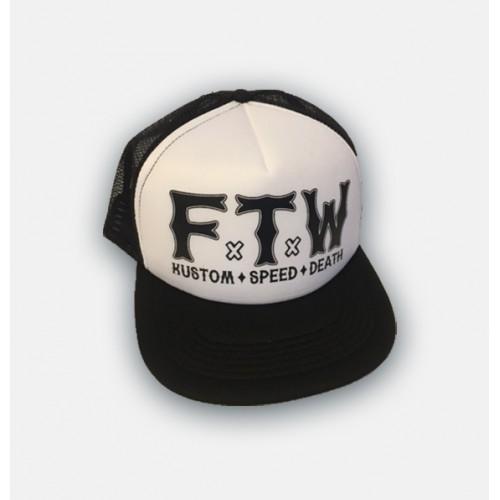 Dragstrip Kustom FTW Trucker Cap Blk White ff1baee214ca
