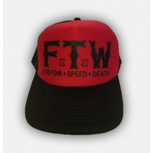 Dragstrip Kustom FTW Trucker Cap Blk/Red