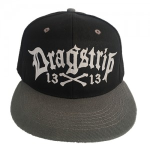 Dragstrip Kustom Clothing Black N Gun Grey 13 LA  gangster script Snap Back