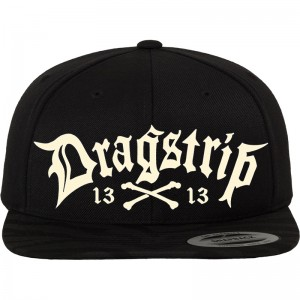 Dragstrip Kustom Clothing Black 13 LA  gangster script Snap Back