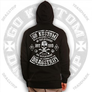 Dragstrip Kustom No Replacement for Displacement Hooded Top
