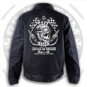 Dragstrip Kustom Greaser jacket Checker Wrecker Print