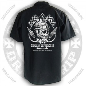 Dragstrip Kustom Greaser work shirt Checker Wrecker Print