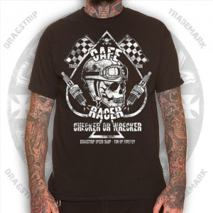 Dragstrip Clothing Mens Checker Wrecker T`Shirt