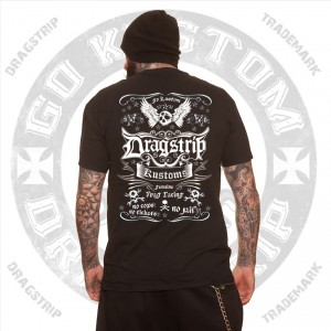 Dragstrip Skull Kustom Mens Greaser T`shirt