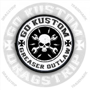 Dragstrip Greaser Outlaw Kustom Patch