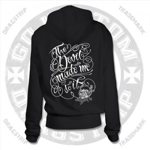 The Devil Made Me Do It Girls Hooded Top