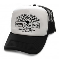 Dragstrip Clothing Kids Junior Racer black and white trucker cap