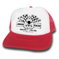 Dragstrip Clothing Kids Junior Racer red and white trucker cap