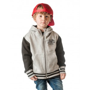 Dragstrip Kids Crew Hoddy - Born To Raise Hell (Charcoal-Black)