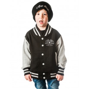 Dragstrip Kids Crew  Jacket - Born To Raise Hell (C. Coal-Black)