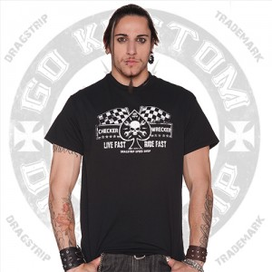 Dragstrip Clothing Mens Kustom Live Fast T`shirt