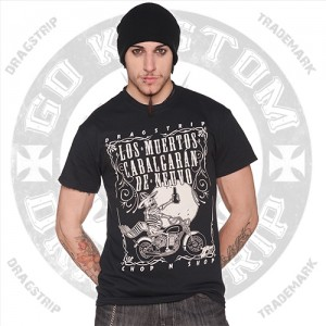 Dragstrip Kustom Mens T`shirt Dead Ride Again
