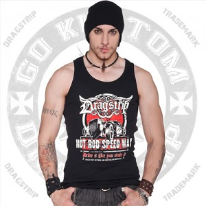 Dragstrip Cothing Speedway mens wife beater