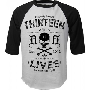 Dragstrip Clothing Americana Baseball top Thirteen Lives
