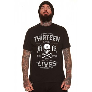 Dragstrip Clothing Street Thirteen Lives Black T`shirt