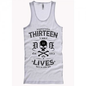 Dragstrip Clothing Thirteen Lives White Wife Beater
