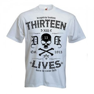Dragstrip Clothing Street Thirteen Lives White T`shirt