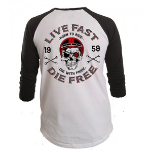 Dragstrip Clothing Americana Baseball top Live Fast
