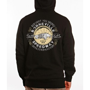 Dragstrip Clothing Mens Bonneville Speedway Hooded Top