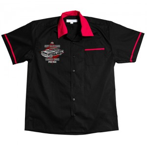 Dragstrip Clothing Mens Bowling Shirt Chevy Death Racer