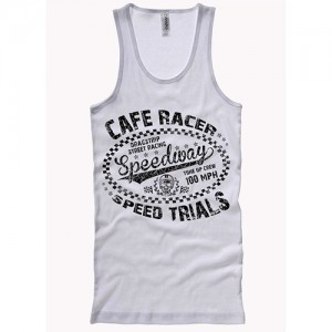 Dragstrip Clothing Speed Trials White Wife Beater