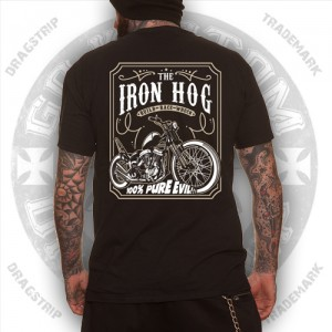 Dragstrip Kustom Mens T`shirt Iron Hog