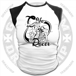 Dragstrip Kustom Girls Baseball Top Trust No One