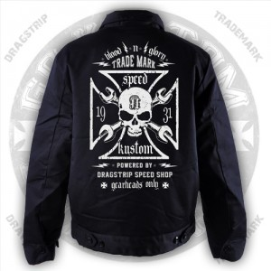 Dragstrip Kustom Blood N Glory greaser work jacket