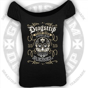 Dragstrip Kustom Womens Sugar Skull Gypsy Top