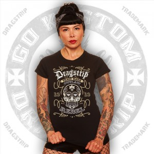 Dragtrip Kustom Girls Sugar Skull T`shirt