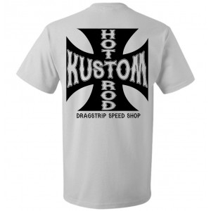 39aa91671a0 Dragstrip Clothing FTW Iron Cross White T`shirt