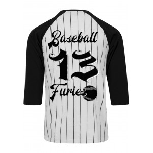 d2dcf36eeaa Dragstrip Clothing Original Americana Stripe Baseball top Baseball Furies  Print