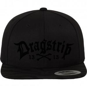 Dragstrip Kustom Black on Black 3d embroidery 13 N Bones Snap Back 9f9542392ba7