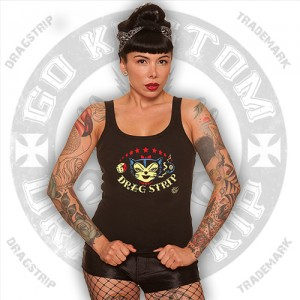 Dragstrip Vince Ray Kitty Womens Trappy Top