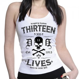 Dragstrip Kustom. Women`s Strappy Top Thirteen Lives