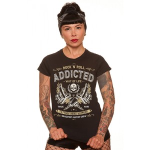Dragstrip Kustom. Women`s T`Shirt Addicted
