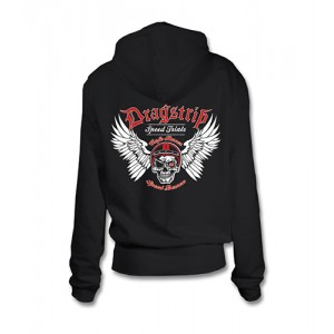 Dragstrip Kustom. Women`s Hooded Top Speed Demon