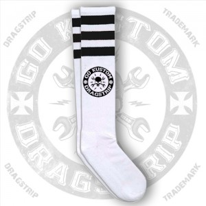 Dragstrip Kustom Go Kustom Skull Socks Black Stripes