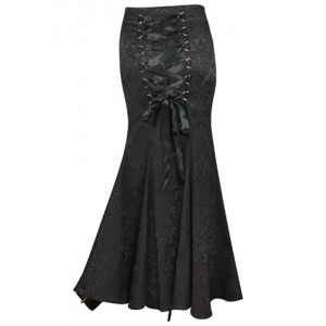 Chic Star Jacquard Gothic Long Fishtail Skirt