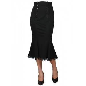 Chic Star Retro Double Button Skirt