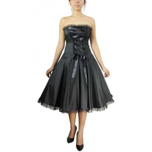 Chic Star Retro Black Ribbon Dress