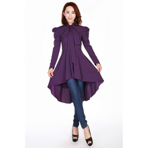 Chic Star Long Sleeve Victorian Romance Purple Top