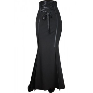 Chic Star Corsetted Long Fishtail Skirt