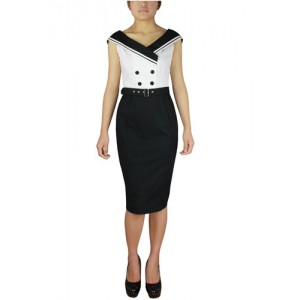 Chic Star Retro Sailor's Ahoy Dress