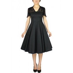 Chic Star 1940s Full Dress With Lace