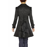 Chic Star Gothic Jacquard Lace-Up Ruffled Jacket
