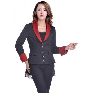 Chic Star Gothic Layered Bustle Jacket