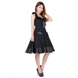 Chic Star Retro Black Swing Dress